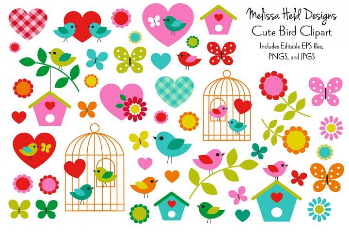 Cute Birds Clipart