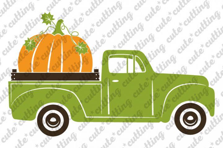 Pumpkin truck svg, truck with pumpkin svg, png, dxf, pdf