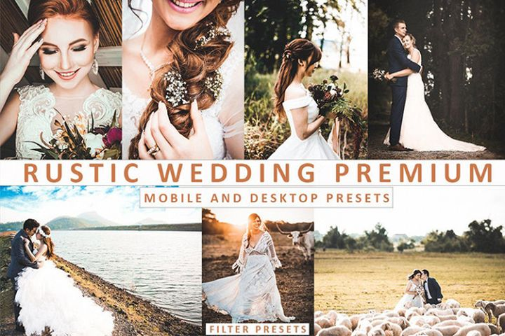 RUSTIC WEDDING Mobile and Desktop Lightroom Presets Premium
