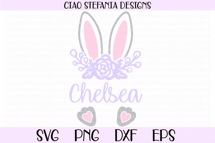 Easter Bunny Ears Monogram SVG Cut File