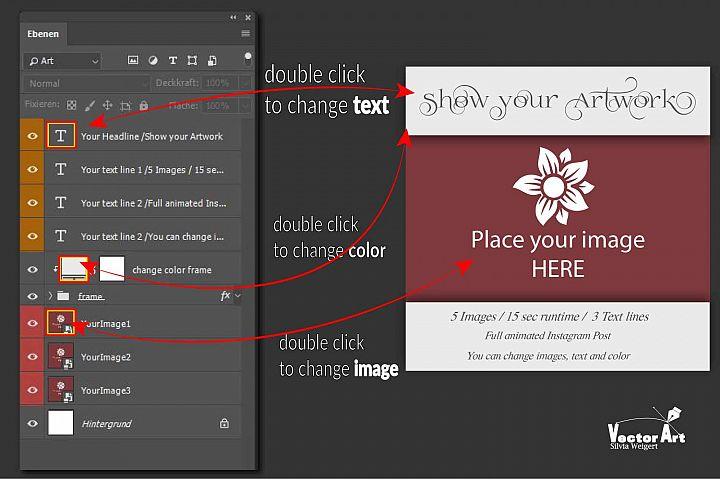 MOCKUP - Animated Instagram templates, Wedding, inc. custom example 5