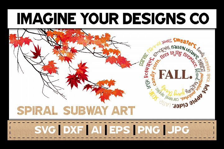 Fall SVG Cut File, Spiral Subway SVG Sublimation
