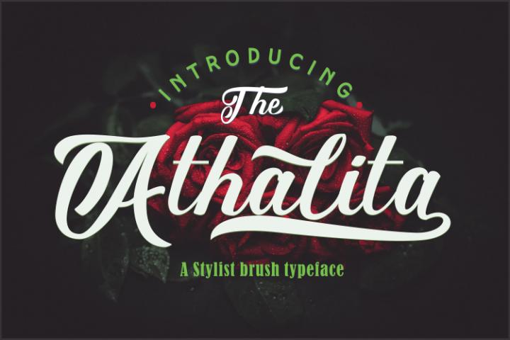 The Athalita / Cool brush stylist Font design