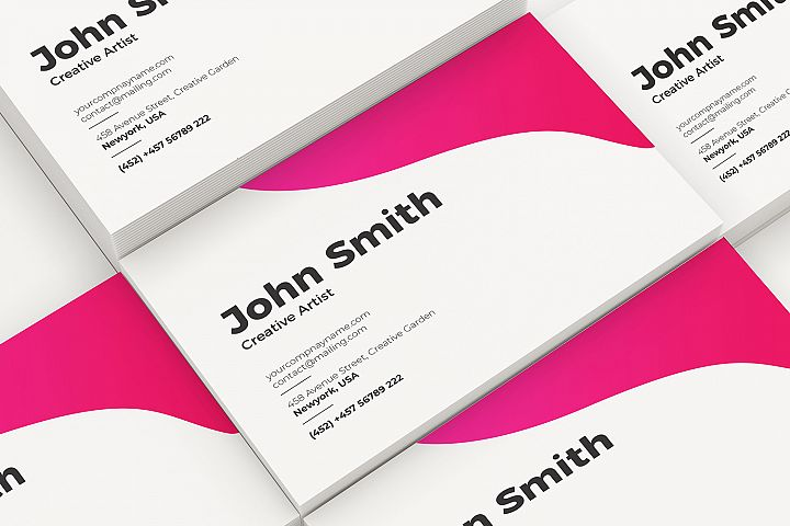 Set of Business Cards Mockup