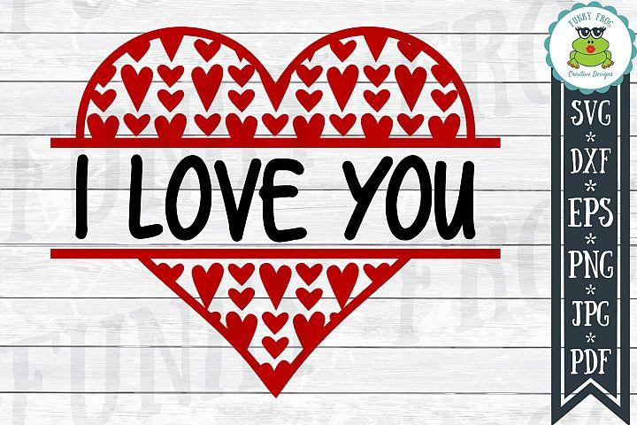 I Love You - Valentine SVG Cut File