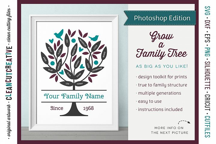 Grow a FAMILY TREE - Photoshop Edition - clipart design set