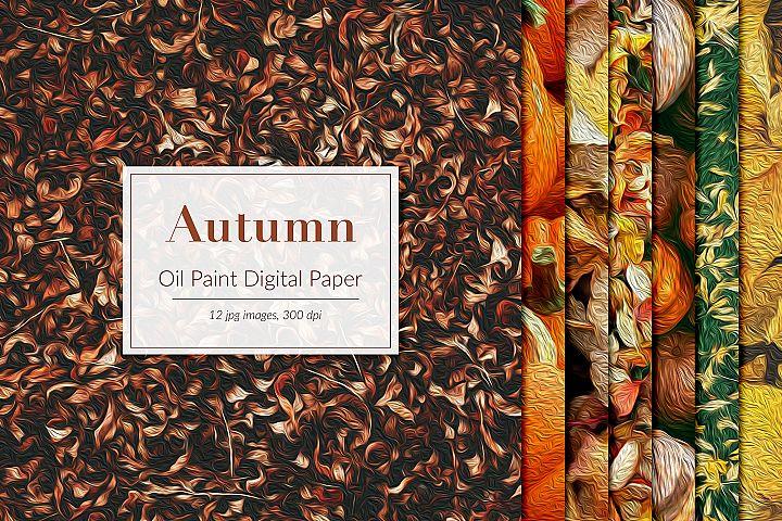 Oil Paint Autumn Backgrounds