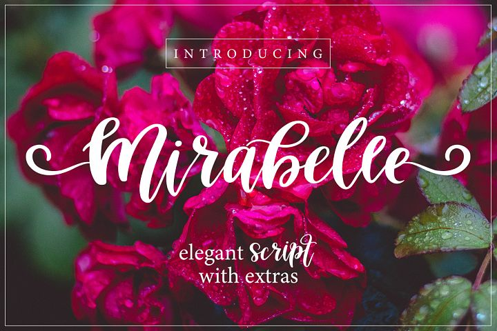 Mirabelle Font with Extras