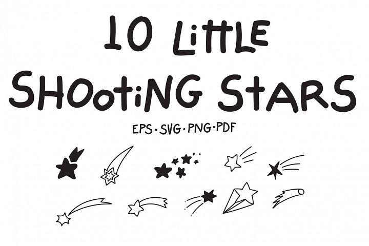 10 Little Shooting Stars