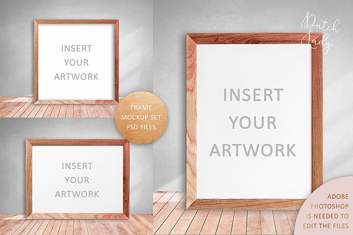 PSD Art Frame Mockup Set #4