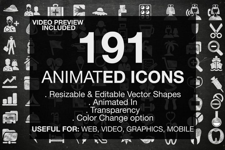 191 Animated Useful Icons