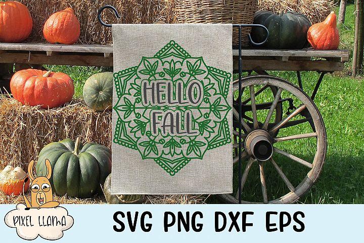 Hello Fall Mandala SVG