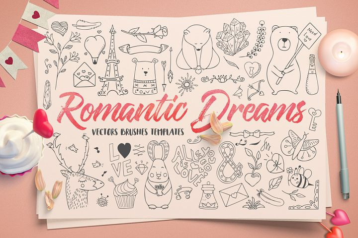 Romantic Dreams Graphic Pack