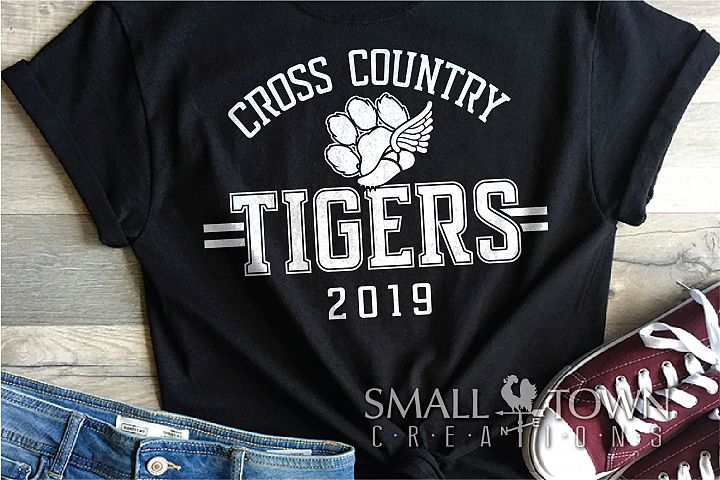 Tiger Cross Country, Tigers Paw Print, PRINT, CUT & DESIGN