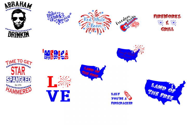 July 4th Bundle SVG cutting files