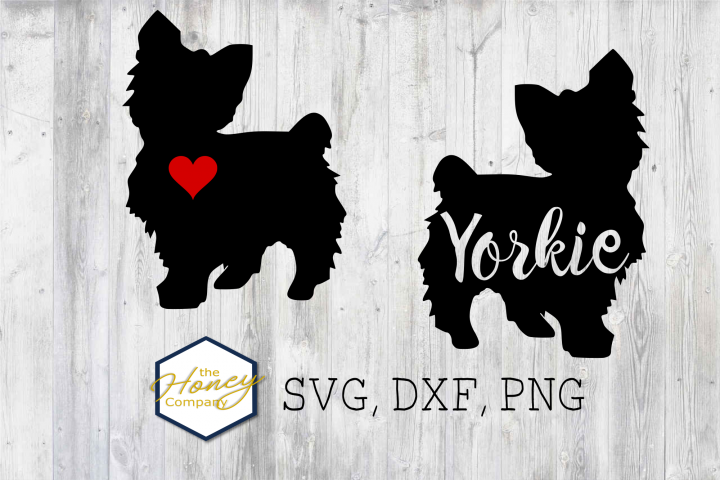 Yorkie SVG PNG DXF Terrier Dog Breed Lover Cut File Vector