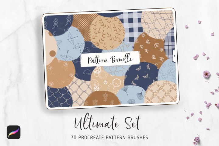 Seamless Pattern Brushes Collection for PROCREATE 5