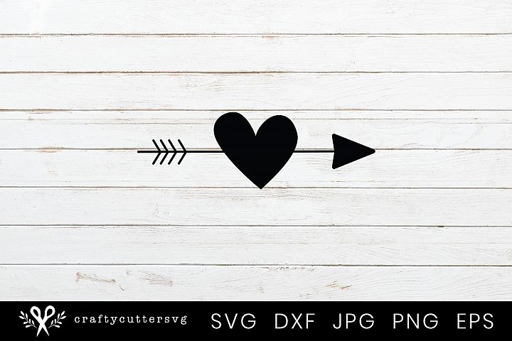 Arrow Love Heart Svg Valentines Day Clipart