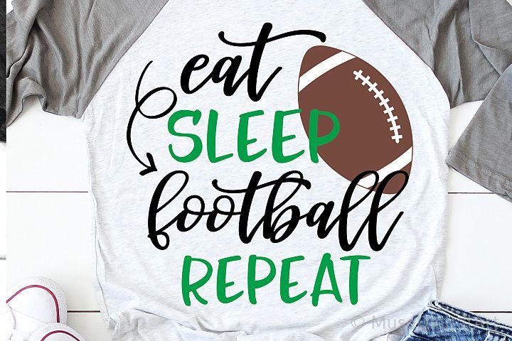 Eat Sleep Football Repeat Svg, Funny Football Svg File