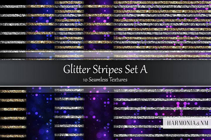 Glitter StripesSet A 10 Seamless Textures
