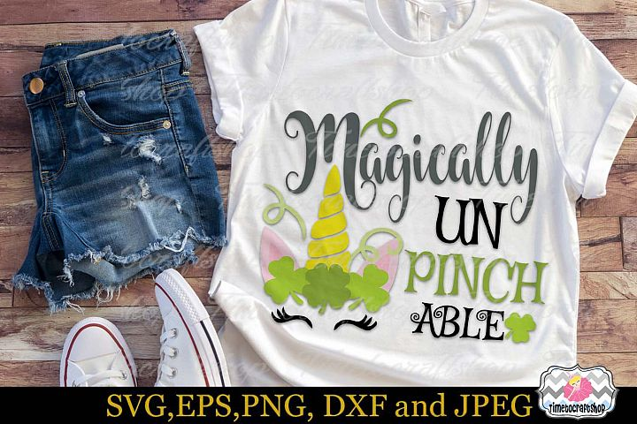 SVG, Dxf, Eps & Png St Patricks Magically Unpinchable