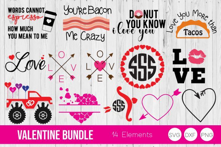 Valentine Bundle SVG, DXF, PNG Bundle Cut Files