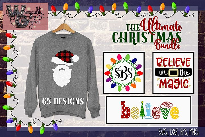 2018 Ultimate Christmas Bundle SVG, DXF, PNG, EPS Comm & Per