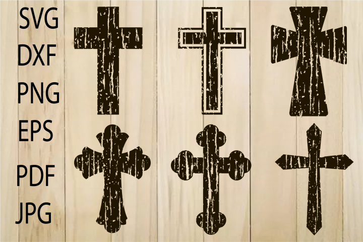 Cross SVG, Distressed Cross SVG , Grunge Cross