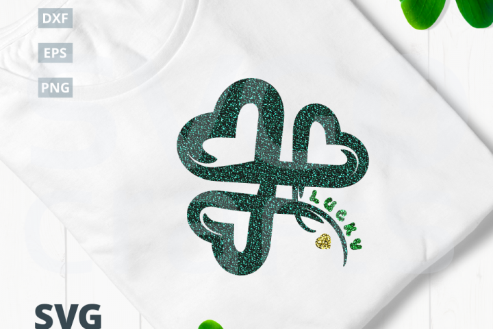 Lucky Clover SVG Cut File|SVG |DXF |EPS |PNG