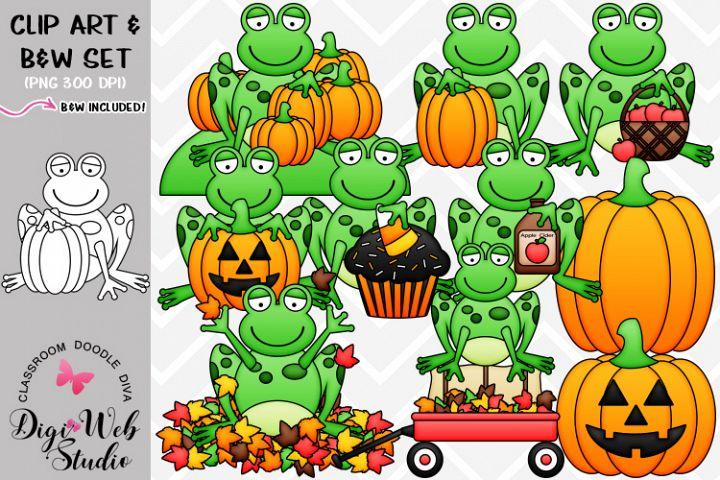 Clip Art / Illustrations - Fall Frogs