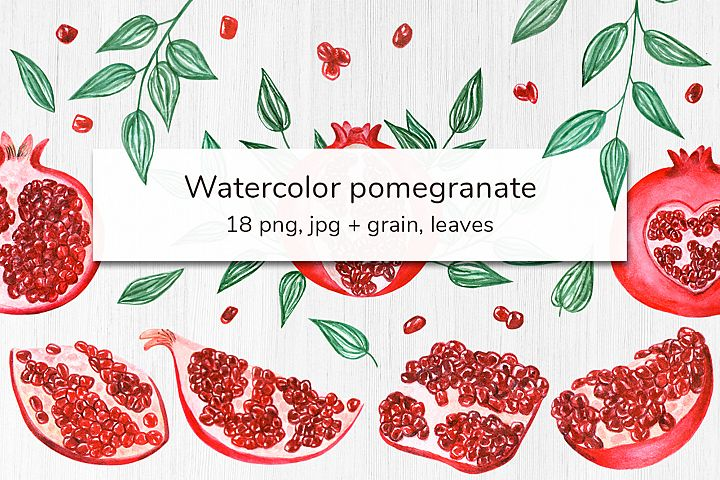 Watercolor Pomegranate