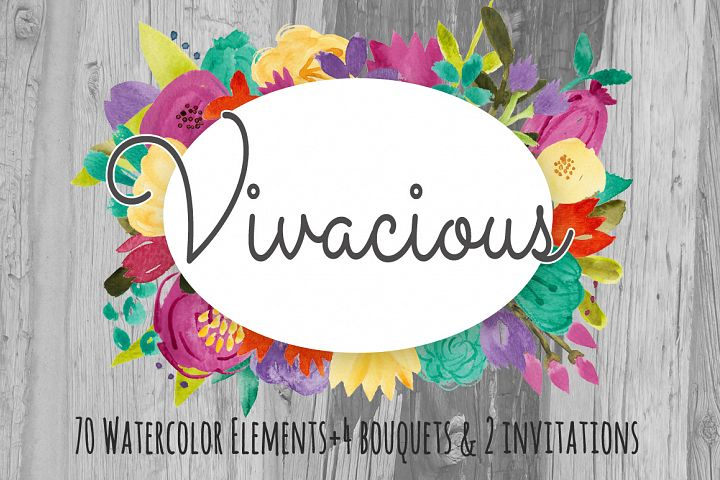 Watercolor Flower Clip Art - Vivacious