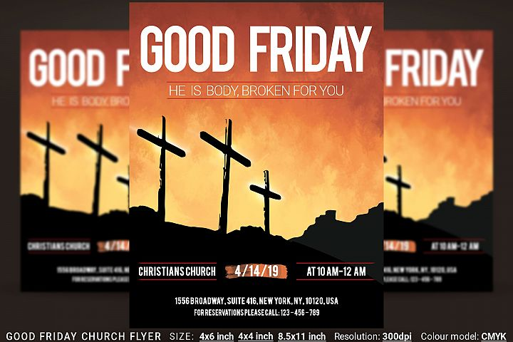 Good Friday Church Flyer Poster