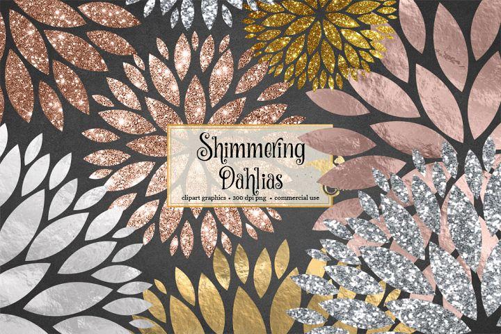 Shimmering Dahlia Clipart