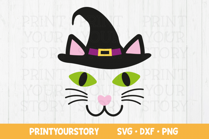 Halloween Black Cat Face - SVG DXF PNG