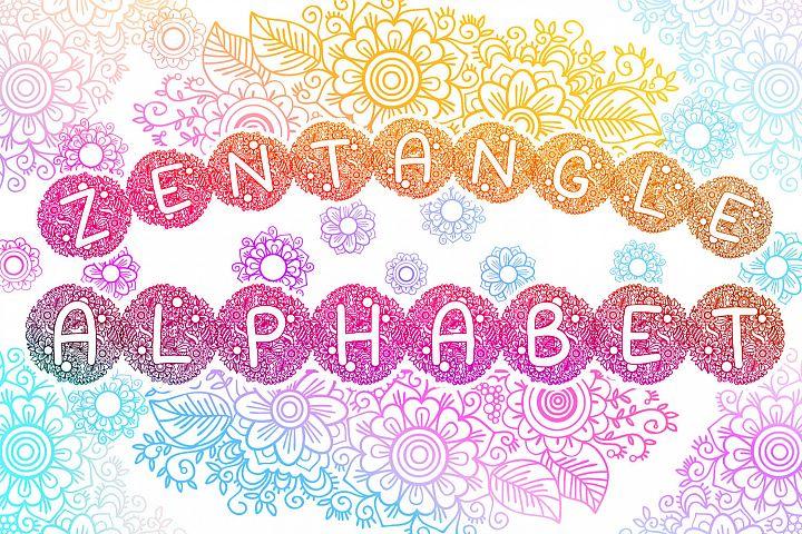 Zentangle Spring Alphabet SVG cut files