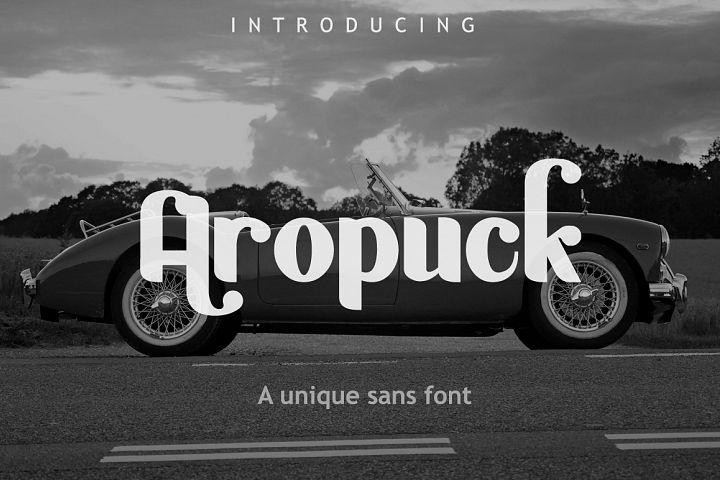 Aropuck Font