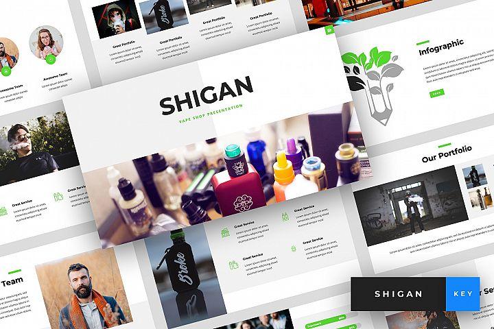 Shigan - Vape Shop Keynote Template