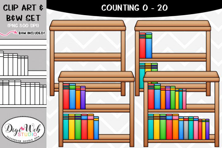 Clip Art / Illustrations - 0-20 Counting Books