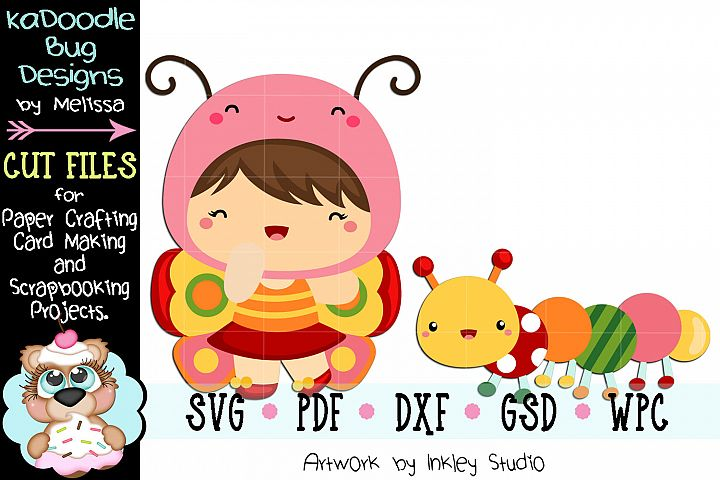 Butterfly Cuties Cut File - SVG PDF DXF GSD WPC