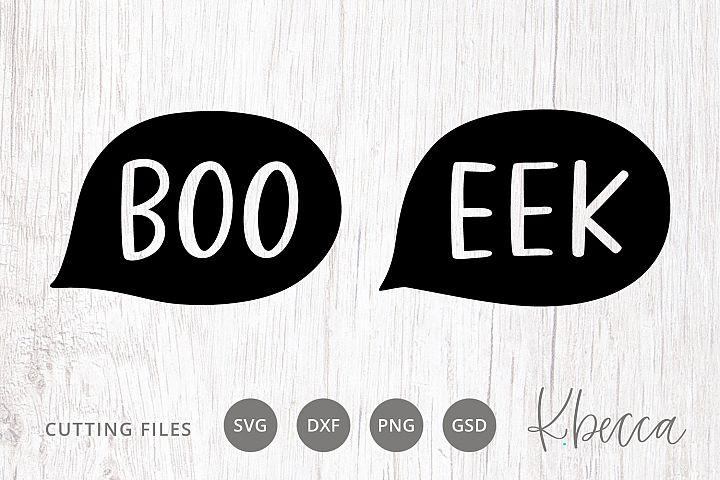Boo Eek Halloween SVG Cut Files