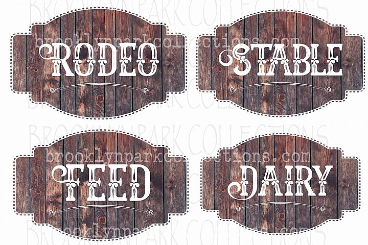 Ranch House Label, Sign, Bundle, Clip Art Print, Sublimation