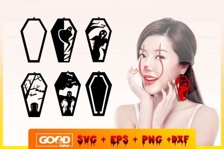 Earring Bundle Halloween SVG DXF PNG EPS Cutting File