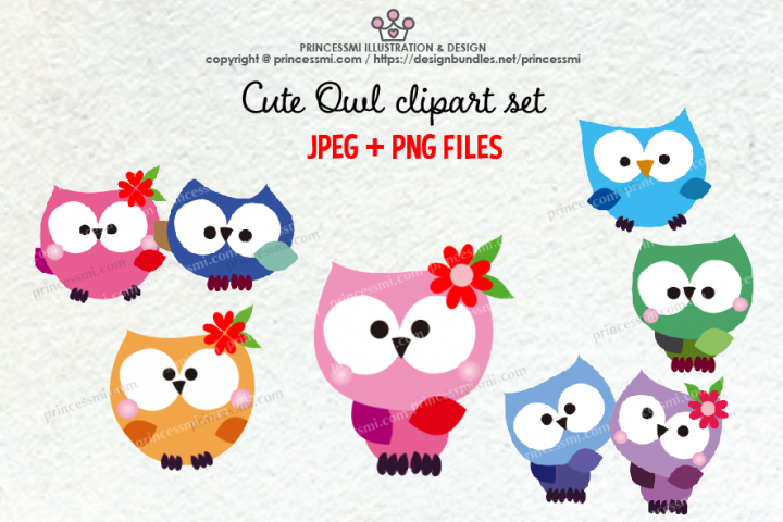 Cute OWL clipart set