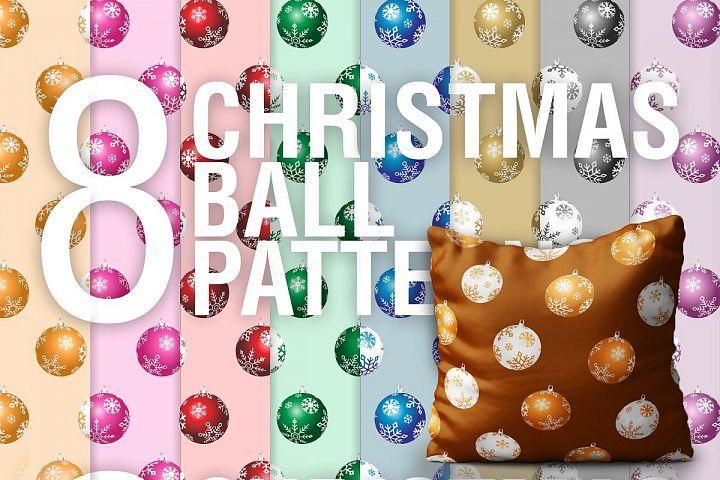 Christmas Ball PSD Patterns PNG PSD