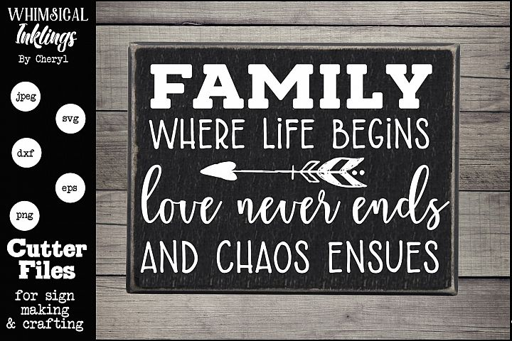 Family-Where Life Begins SVG