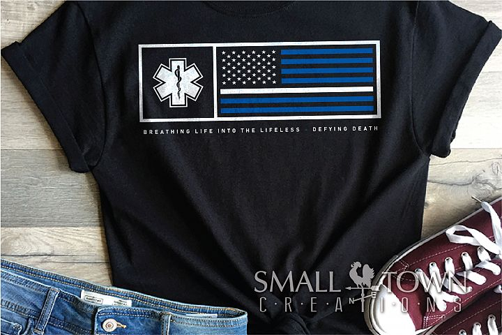 Emergency Medical, EMT, American flag, PRINT, CUT, DESIGN