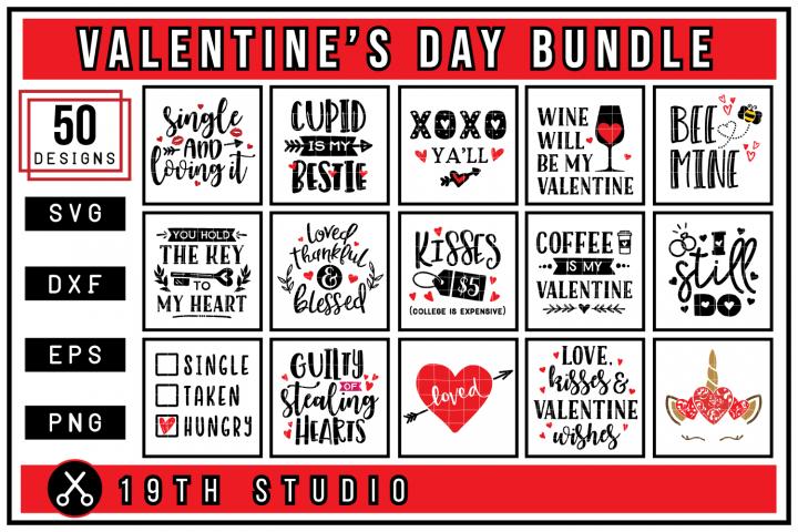 Valentines Day SVG Bundle | SVG DXF EPS PNG MB43