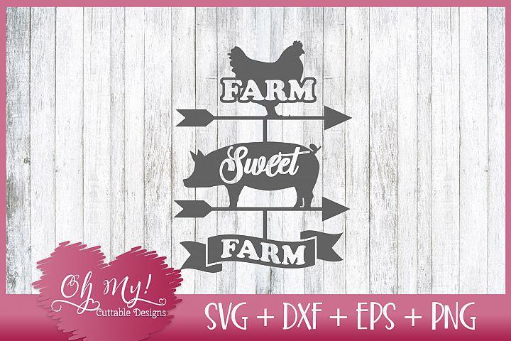 Farm Sweet Farm - SVG DXF EPS PNG
