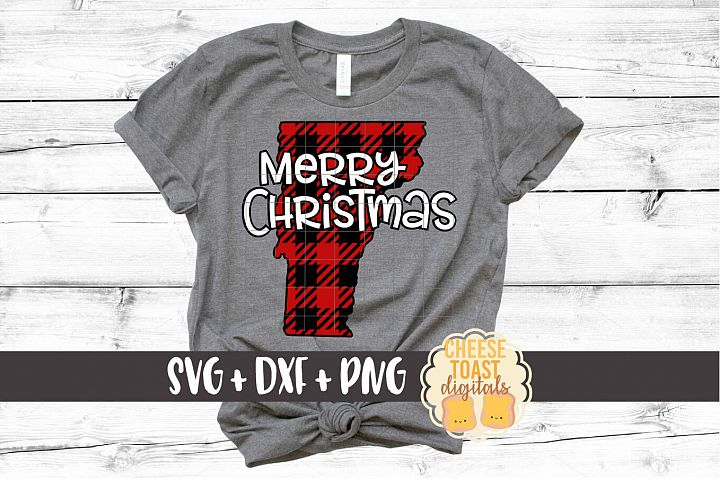Vermont - Buffalo Plaid State - SVG PNG DXF Cut Files